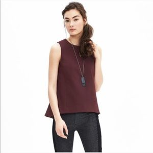 Banana Republic | Maroon Seamed Swing Tank